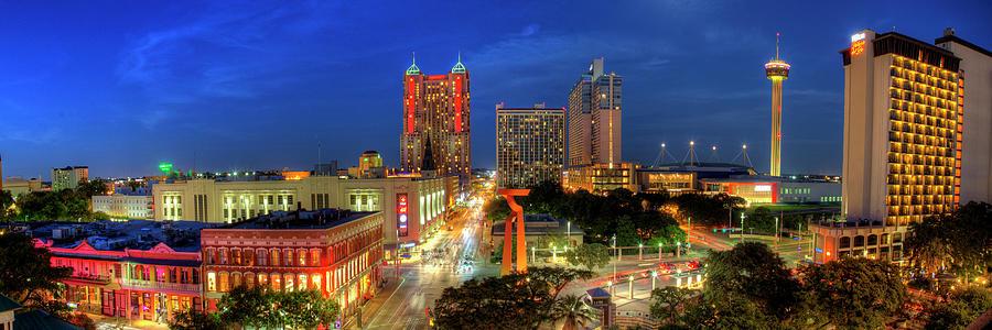 Downtown San Antonio Panorama Photograph By Paul Huchton