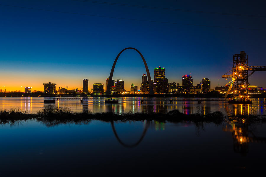 Downtown St. Louis and the Gateway Arch by Matthew Chapman
