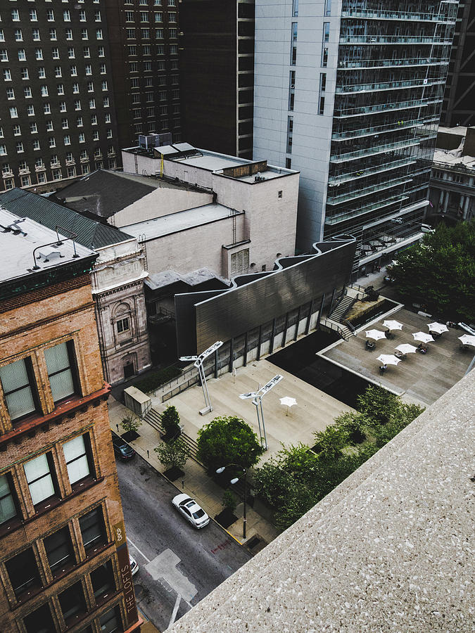 Architecture Photograph - Downtown St. Louis From A Rooftop by Dylan Murphy