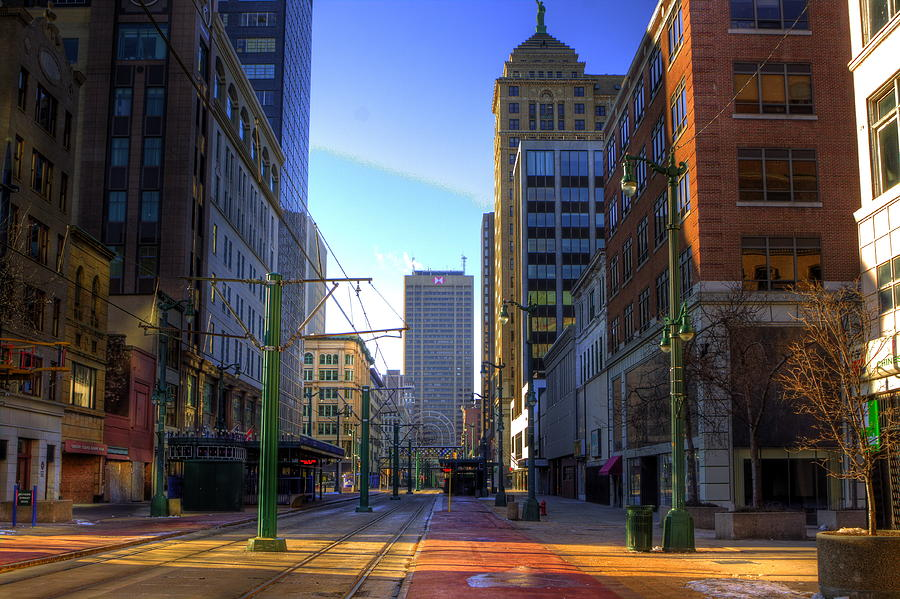 Downtown Photograph - Downtown Sunday Morning In February by Don Nieman