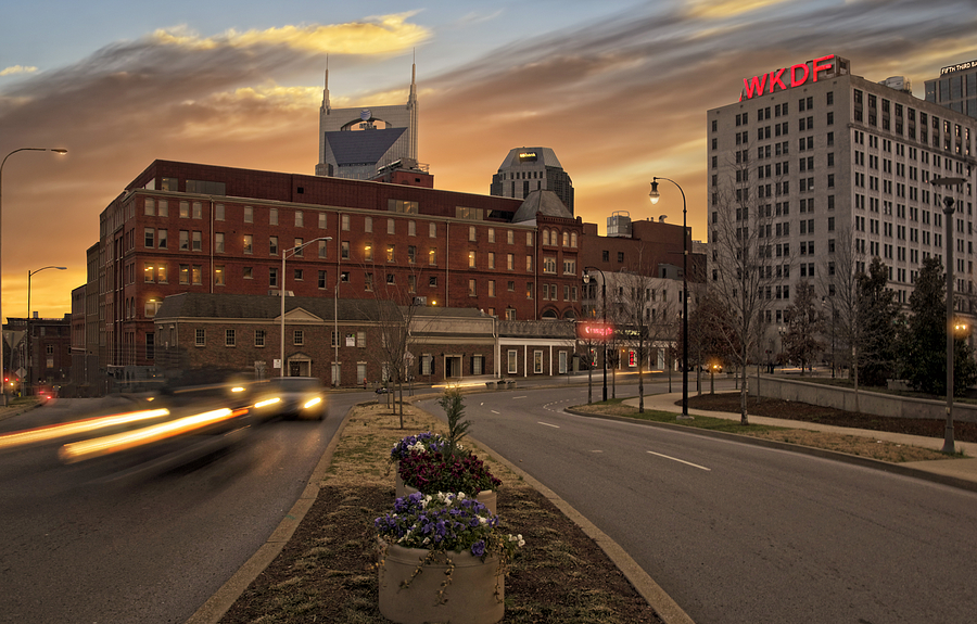 Downtown Photograph - Downtown Sunset by Steven  Michael