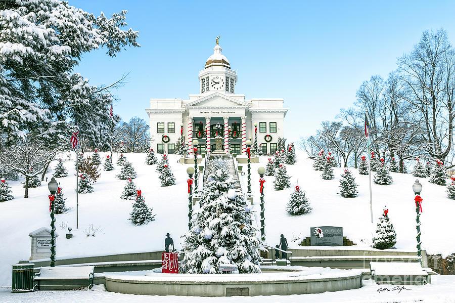 North Carolina Photograph - Downtown Sylva Courthouse Christmas 2016 by Matthew Turlington