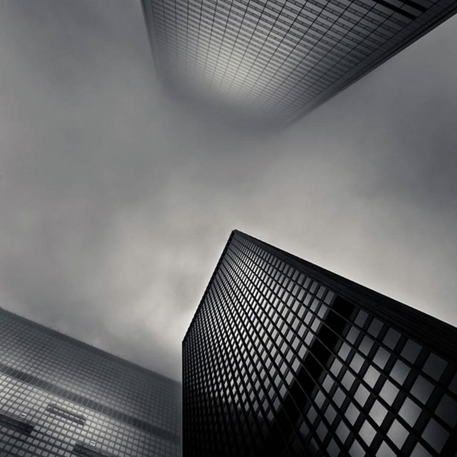 Toronto Photograph - Downtown Toronto Fogfest  #toronto by Brian Carson