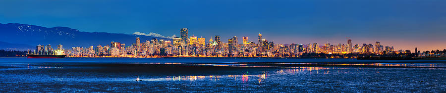 Vancouver Photograph - Downtown Vancouver From Spanish Banks Beach by Alexis Birkill