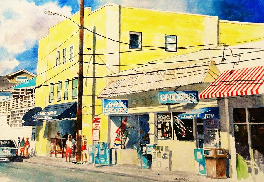 Wrightsville Beach Painting - Downtown Wrightsville Beach by Tom Harris