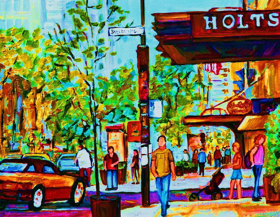 Holt Renfrews Painting - Downtowns Popping by Carole Spandau