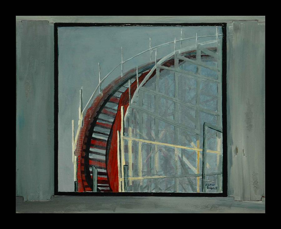 downward Spiral on the Giant Dipper Painting by Robert Newport