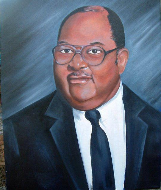 Portrait Painting - Dr. Cooper by Gwendolyn Frazier