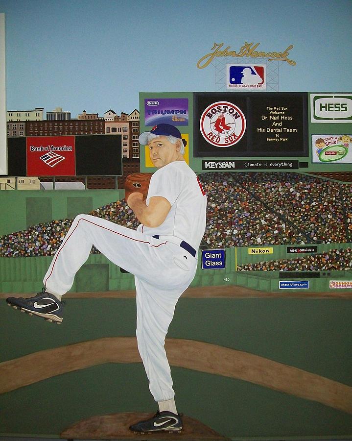 Baseball Painting - Dr. Hoss by Sandra Poirier
