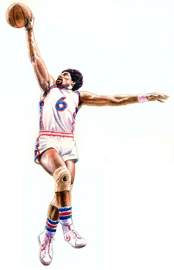 Dr J Painting By Ken Meyer