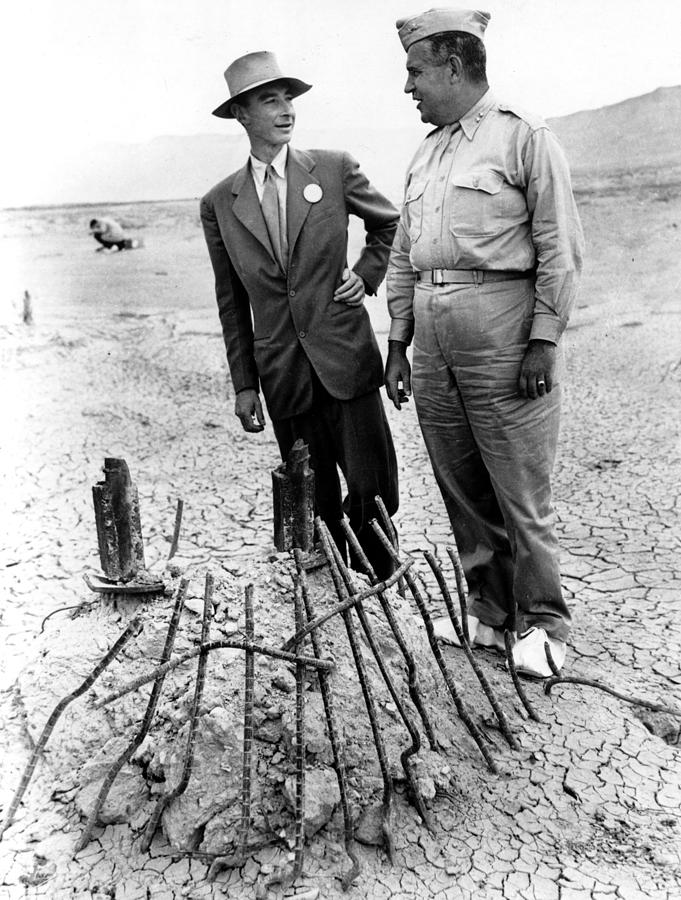 Candid Photograph - Dr. J. Robert Oppenheimer, With Maj by Everett