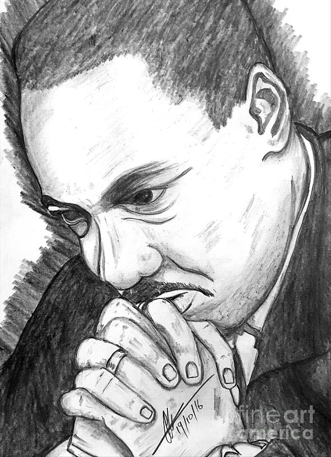 Dr Martin Luther King Jr Drawing By Collin A Clarke