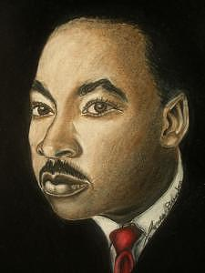 Dr. Martin Luther King Jr. Drawing by Portland Art Creations