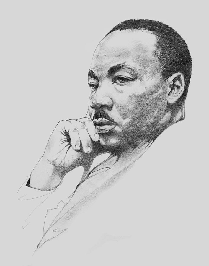 Dr. Martin Luther King Jr. Drawing by W James Taylor