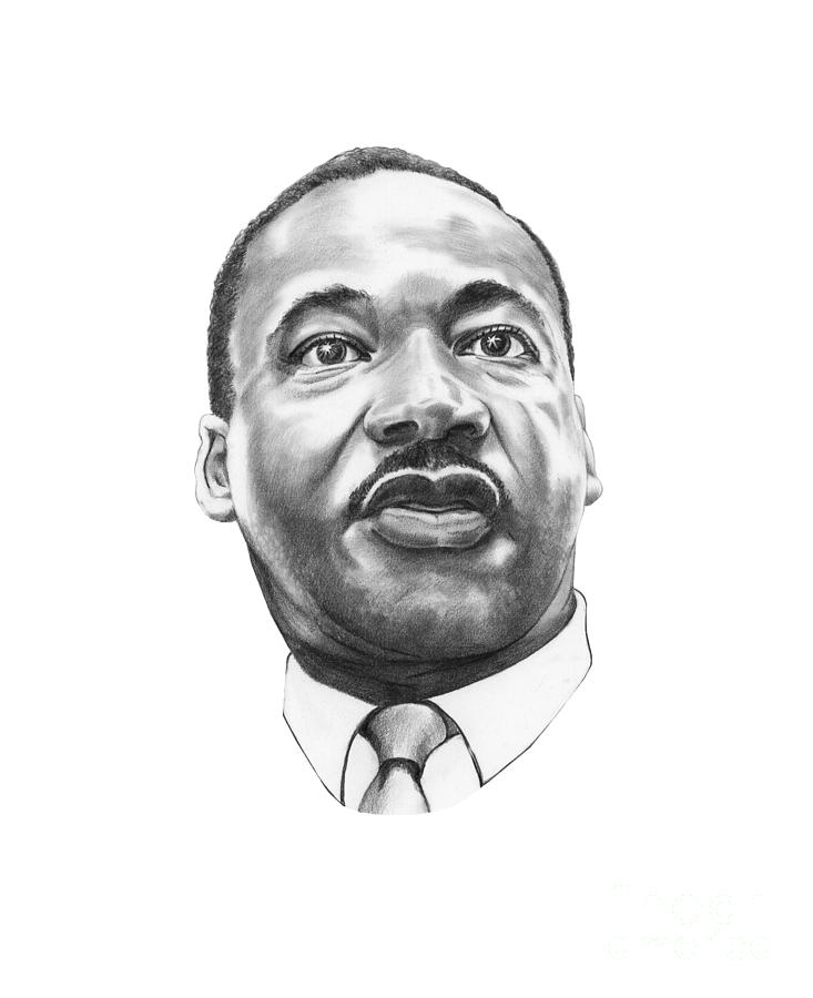 Portrait Drawing - Dr. Martin Luther King by Murphy Elliott