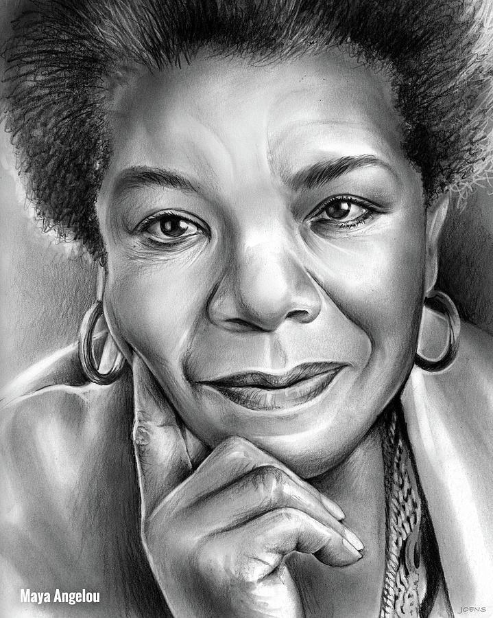 Maya Angelou Drawing - Dr Maya Angelou by Greg Joens