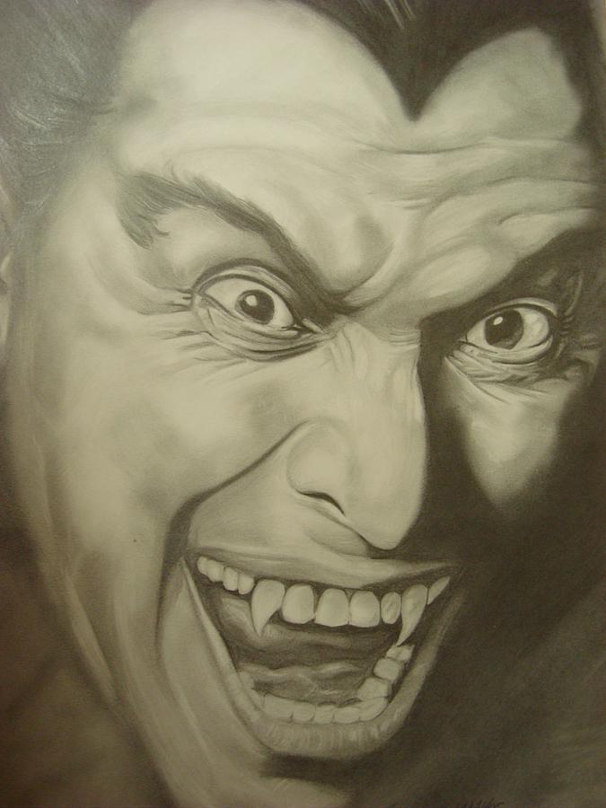 Dracula Drawing by Maria Vero