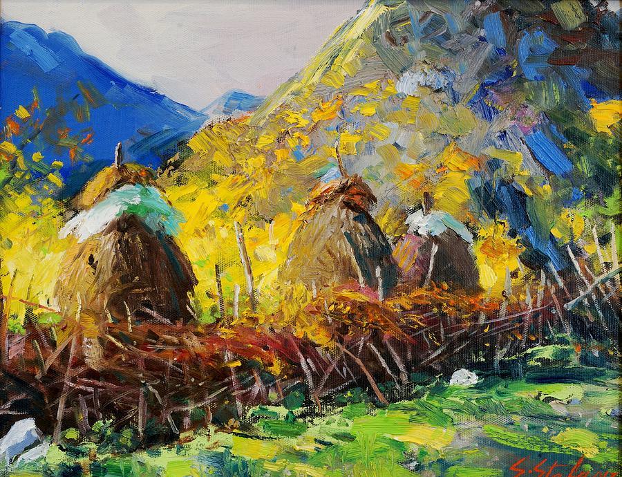 Landscape Painting - Dragobia Of Legends, Valbona by Sefedin Stafa