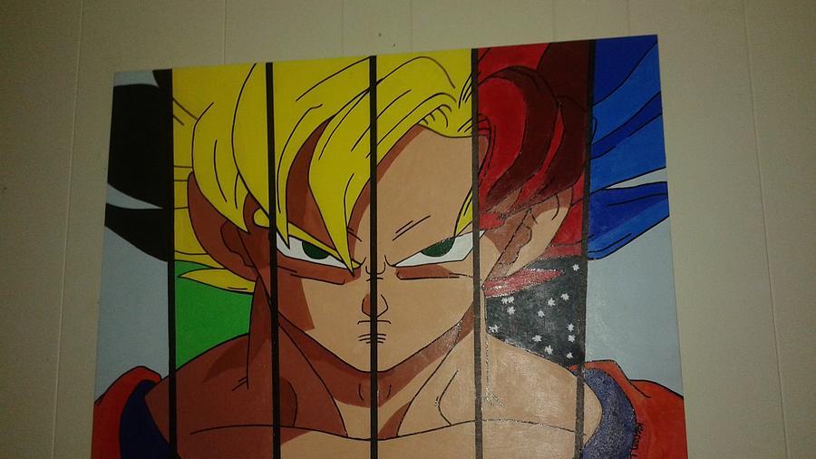 Dragon Ball Z Acrylic Painting