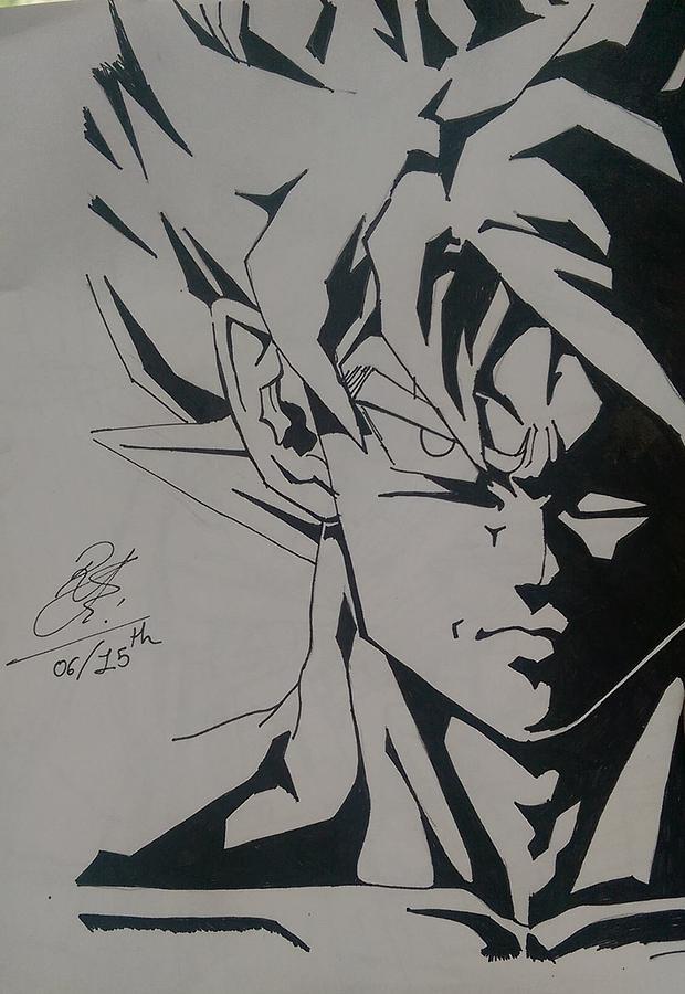 Dragon Ball Z Drawing By Rujuta Upadhyay