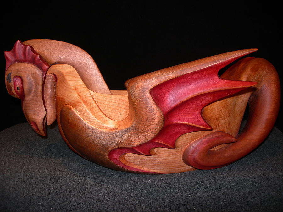 Bowl Sculpture - Dragon Bowl And Ladle by Shane  Tweten