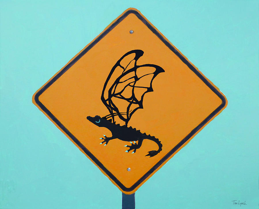 Dragon Painting - Dragon Crossing by Tina Lynch