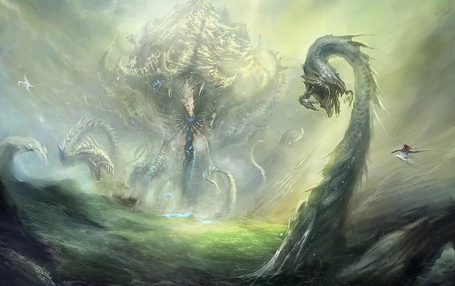 Dragon Digital Art - Dragon by Dorothy Binder