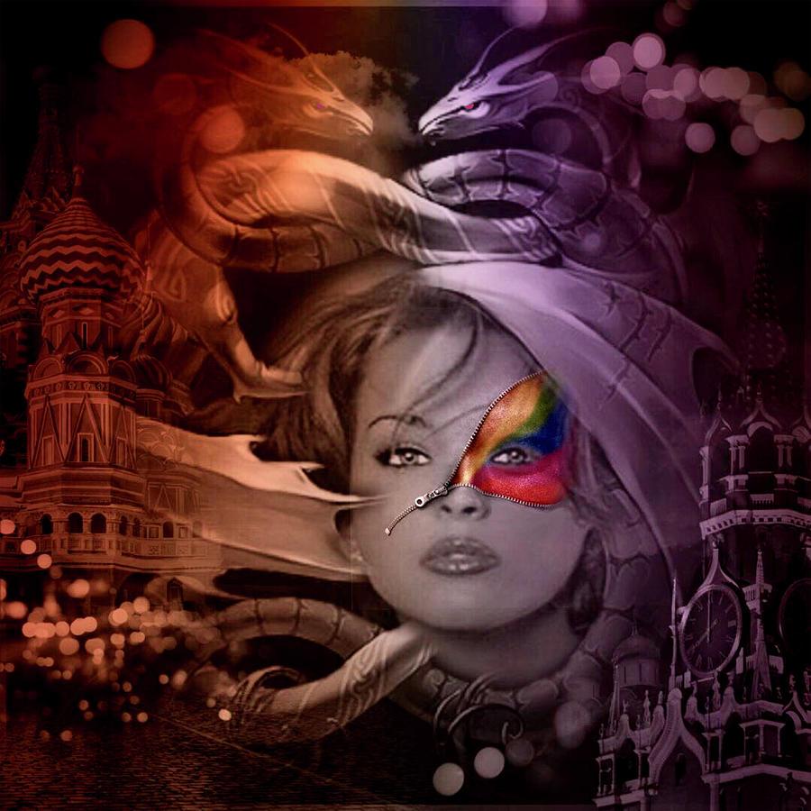Portrait Digital Art - Dragon Dreams by Kathy Kelly