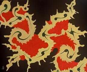 Dragon Painting - Dragon by Elizabeth Hannah