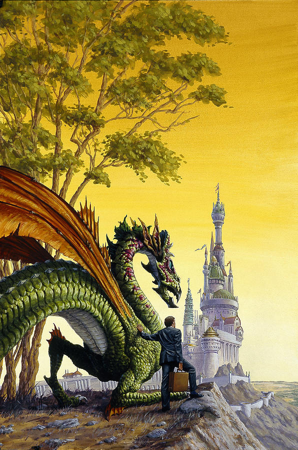 Dragon Painting - Dragon For Sale by Richard Hescox
