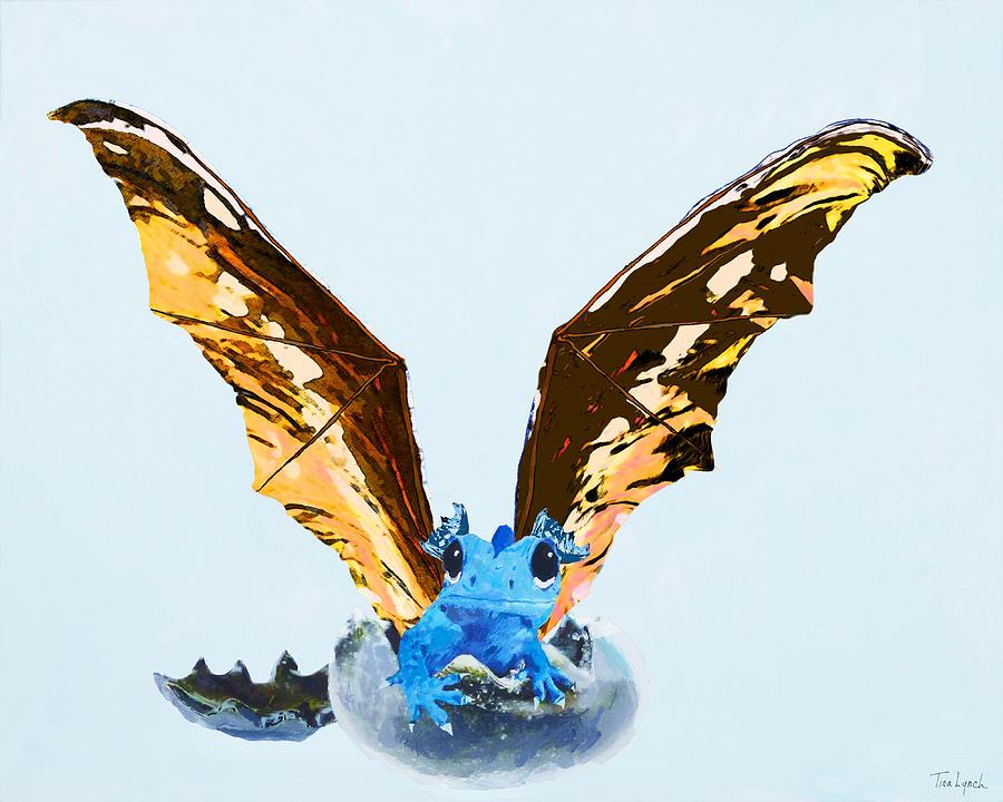Dragon Painting - Dragon Hatching by Tina Lynch