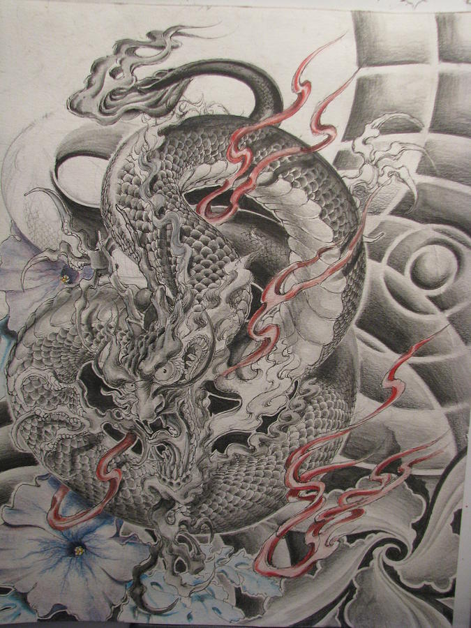 Dragon Drawing - Dragon by Jared Rice