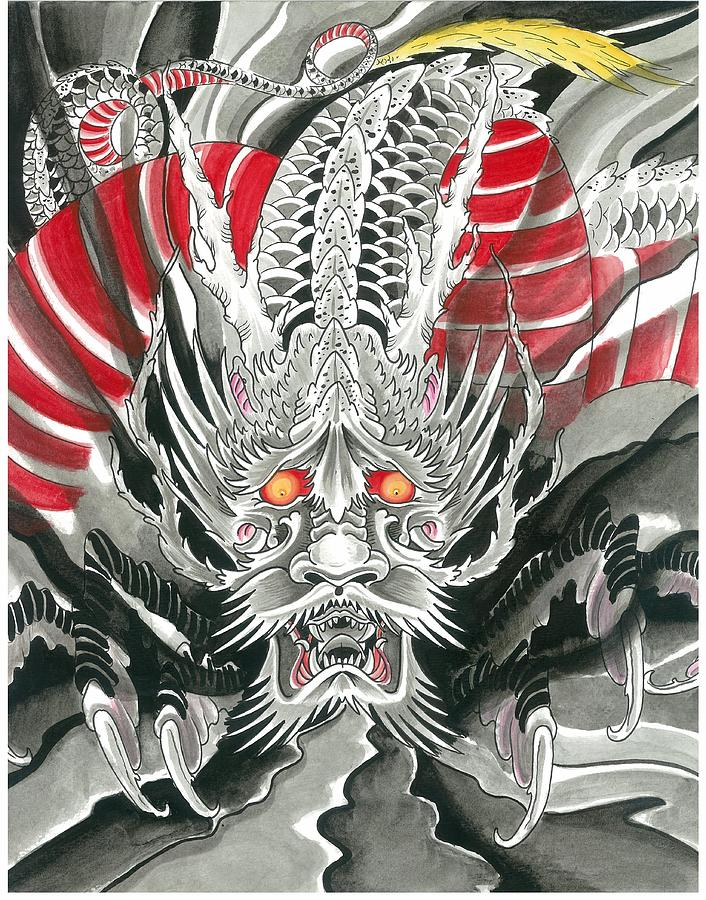Dragon Painting by Keith Diffenderfer