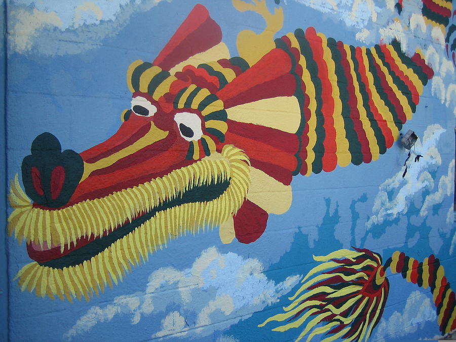 Mural Painting - Dragon by Lehua Ehukai
