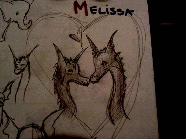 Dragon Drawing - Dragon Love by Red Cloud
