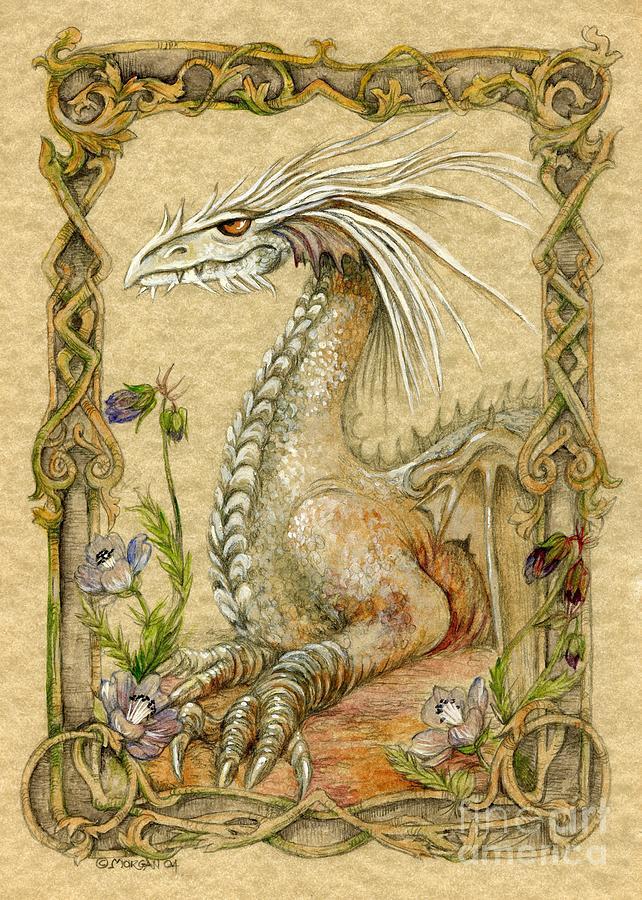 Dragon Painting - Dragon by Morgan Fitzsimons