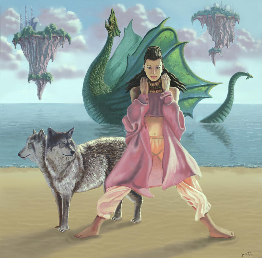 Dragon Digital Art - Dragon Queen by Joseph Kemeny