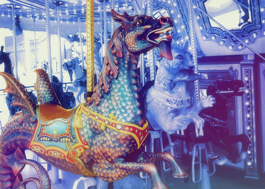 Carousel Photograph - Dragon Rider by JAMART Photography
