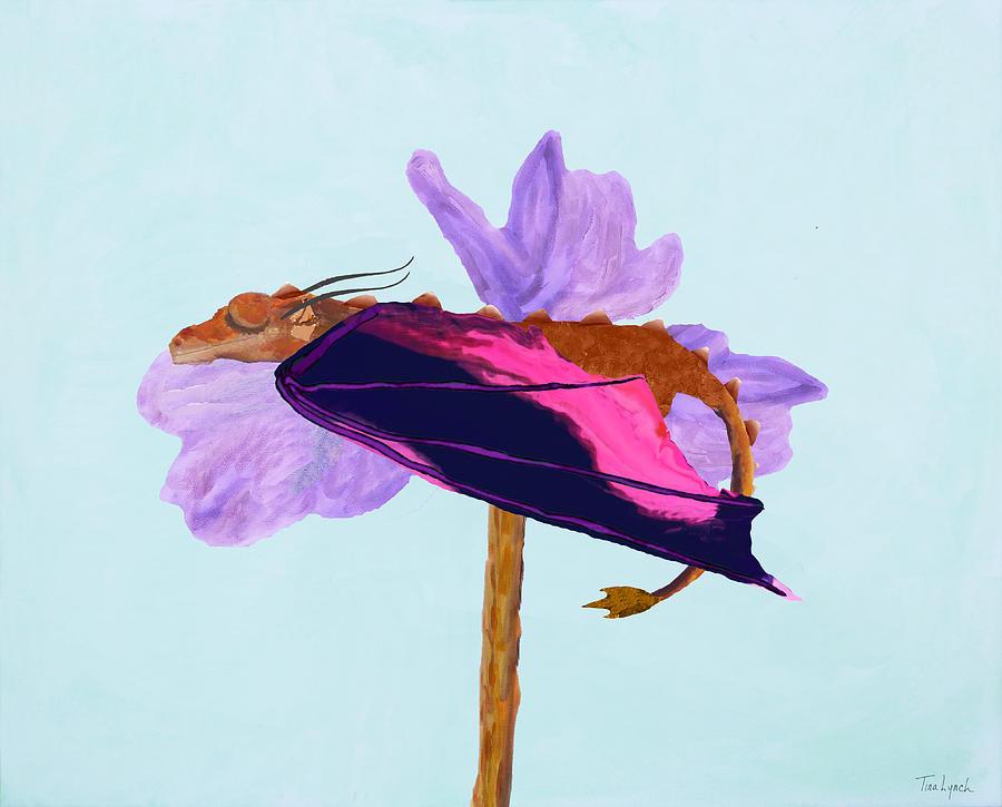 Dragon Painting - Dragon Sleeping by Tina Lynch