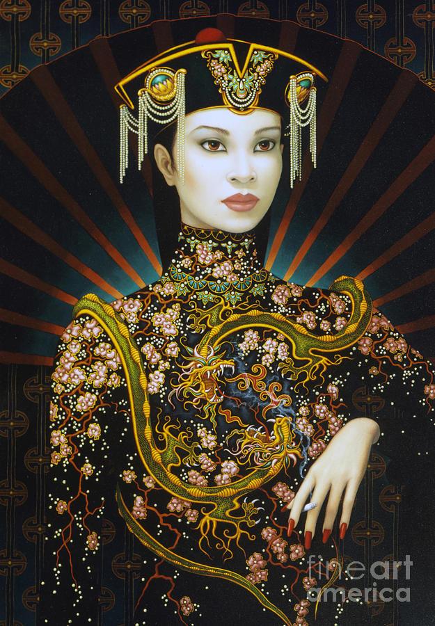 Oriental Painting - Dragon Smoke by Jane Whiting Chrzanoska