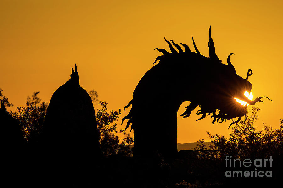 Digital Photograph - Dragon Sunrise 1 by Daniel Knighton