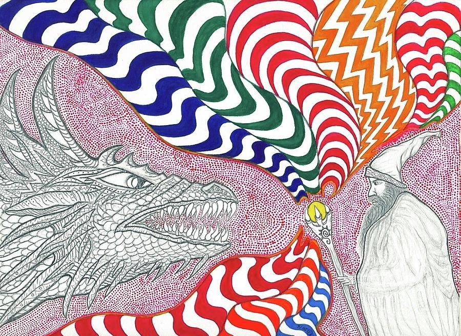 Dragon Painting - Dragon Tamer by ArtSick Productions