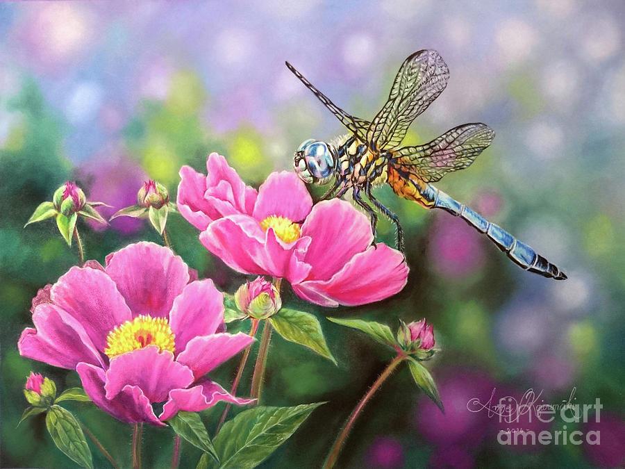 Pan Pastels Pastel - Dragonfly by Anne Koivumaki - Fine Art Anne