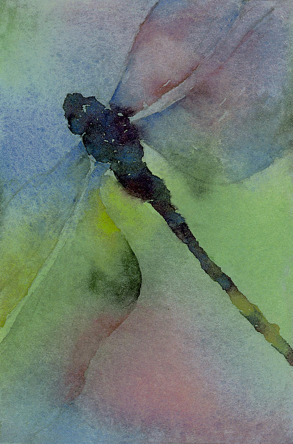 Dragonfly Painting - Dragonfly In Flight by Gladys Folkers