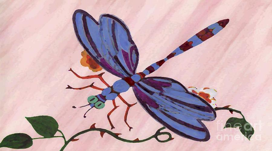 Dragonfly Painting - Dragonfly by Norman Reutter