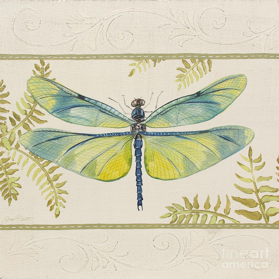 Dragonfly Wonder-jp3141 Painting by Jean Plout