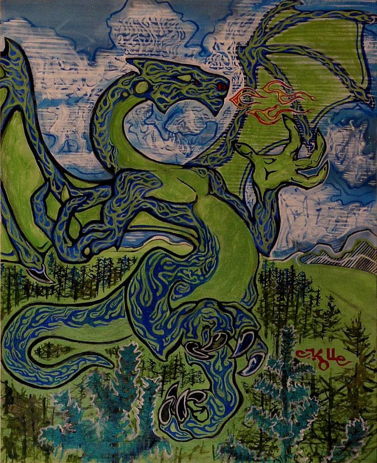 Dragonosity Painting by Christian Kolle