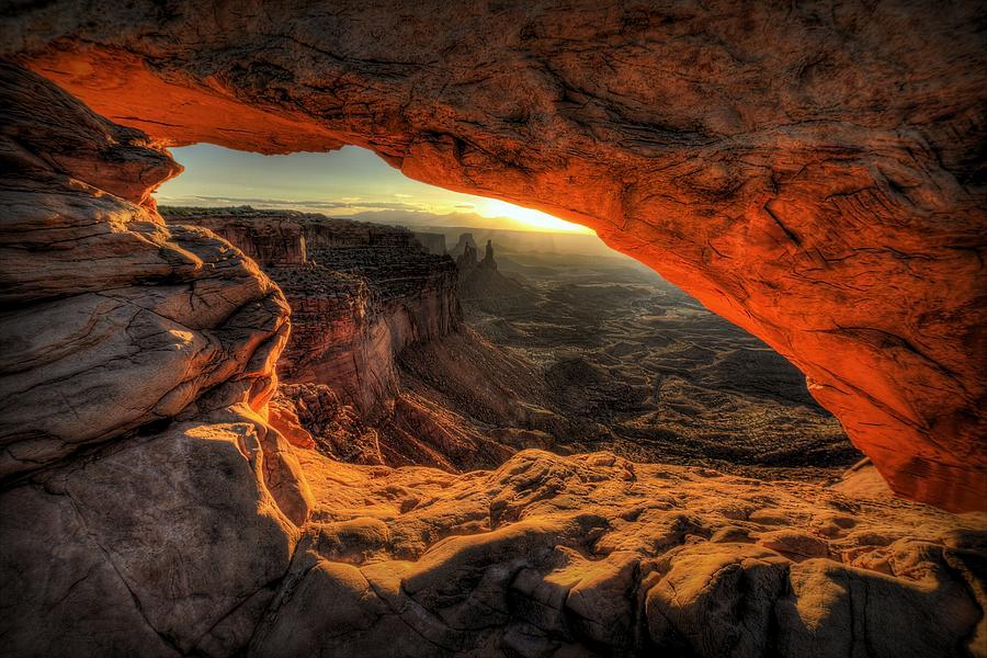 Mesa Arch Photograph - Dragons Eye by Ryan Smith