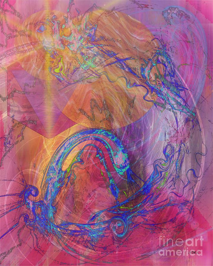 Dragon Digital Art - Dragons Tale by John Beck
