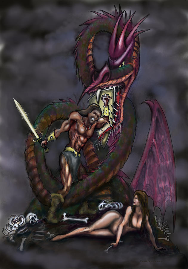 Dragonslayer Painting